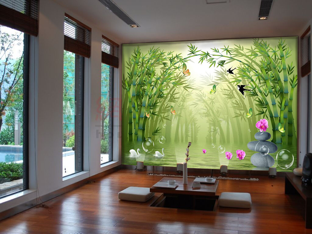 3D Grün Bamboo Painting 357 Wall Paper Wall Print Decal Wall AJ WALLPAPER CA