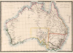 Map Of Australia Regions.Details About 1864 Australia Map Gold Regions Mining Home School Wall Poster Vintage History