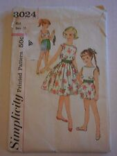 24af27e8b item 8 Vintage Simplicity  3024 Girl s Bra Shorts Blouse Skirt Size 10  Uncut Pattern -Vintage Simplicity  3024 Girl s Bra Shorts Blouse Skirt Size  10 Uncut ...