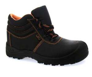 efc08288e39 Details about Men Safety S3 Shoe Work Boots Steel Toes/Sole Plate Black  Orange Leather Ankle