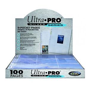 Ultra Pro Boite 100 feuilles de classeur de carte A4 Silver Series 9 cases/page