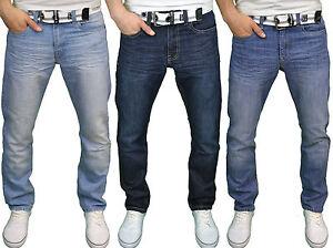 BNWT Seven Series Mens Designer Branded Regular Fit Straight Leg Jeans