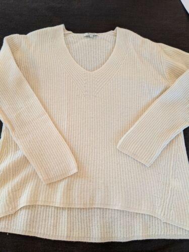 Madewell Ivory Ribbed Merino Wool Sweater Sz. L