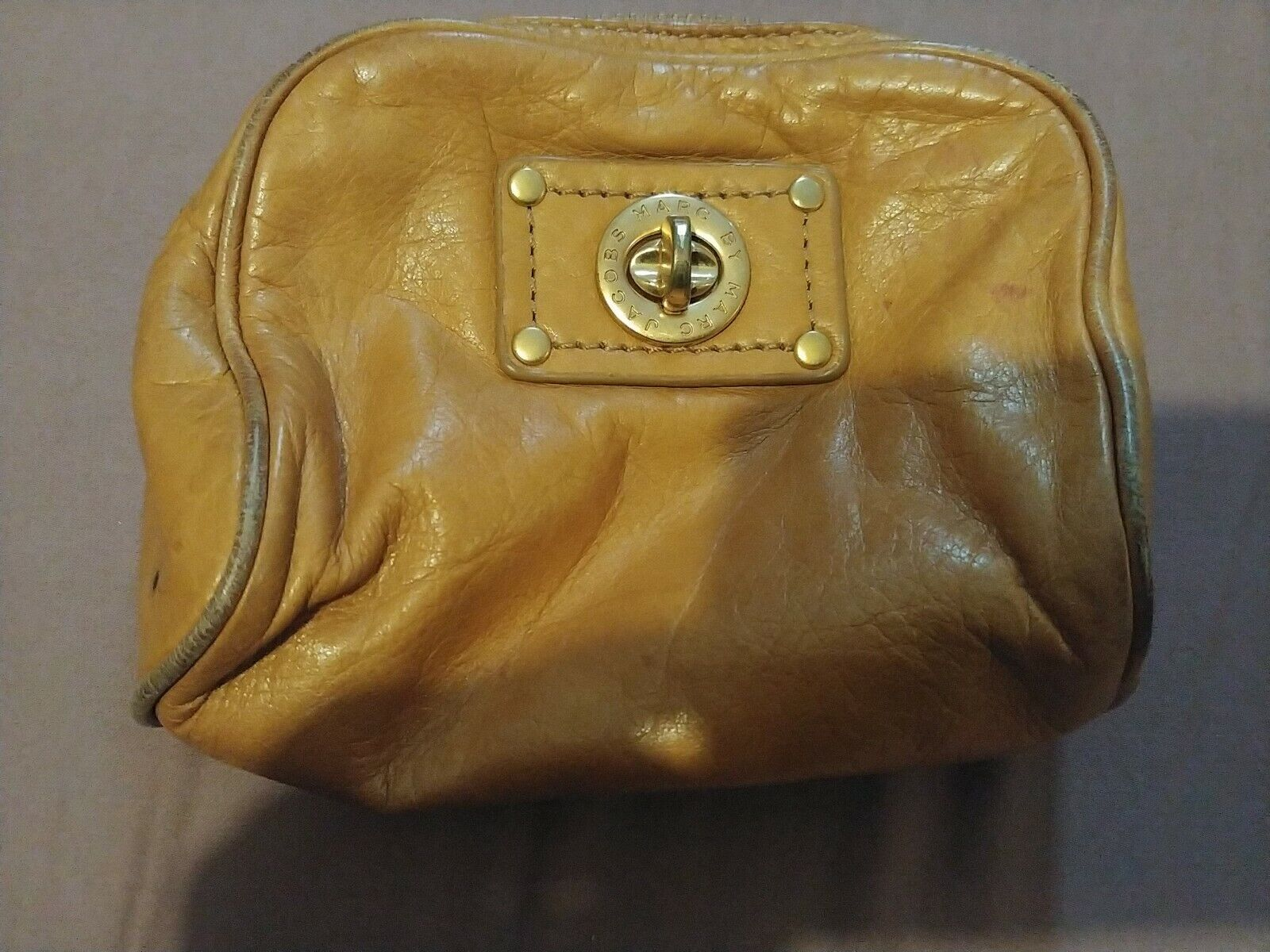 Marc Jacobs Mustard Leather Pouch Purse used