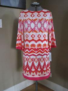 Eliza-J-Print-Jersey-Shift-Dress-Multi-Print-SZ-10