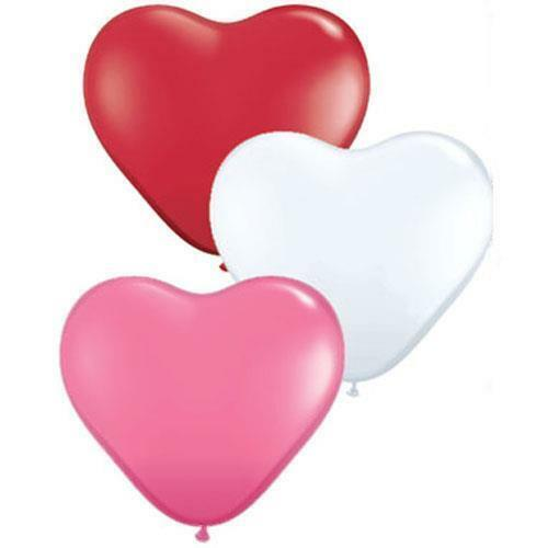 Details about  /Love Assortment Red White /& Pink Heart Shaped 6 Inch Qualatex Latex Balloons