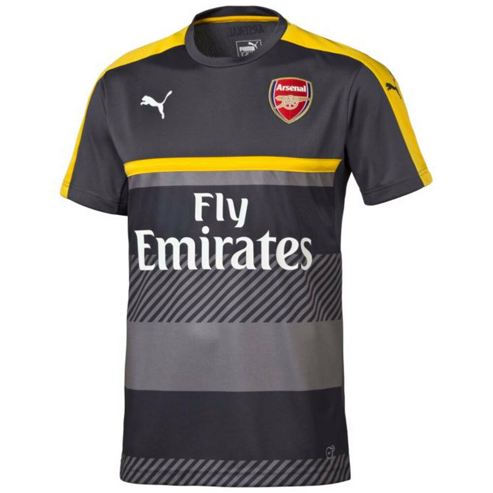Puma Arsenal FC Official 2016 - 2017 Soccer Training Jersey  Charcoal / Gelb