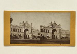Francia Parigi Palais Da L Industria Foto Stereo Vintage Albumina Ca 1865