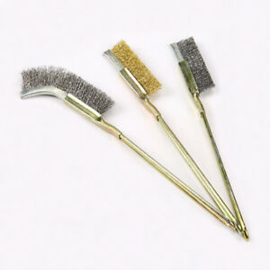 6 X Mini Small Wire Stainless Steel Cleaning Brushes Rust Remover Removal Tools
