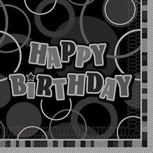 Glitz-Birthday-Supplies-Tablecover-plates-cups-napkins-blue-pink-black