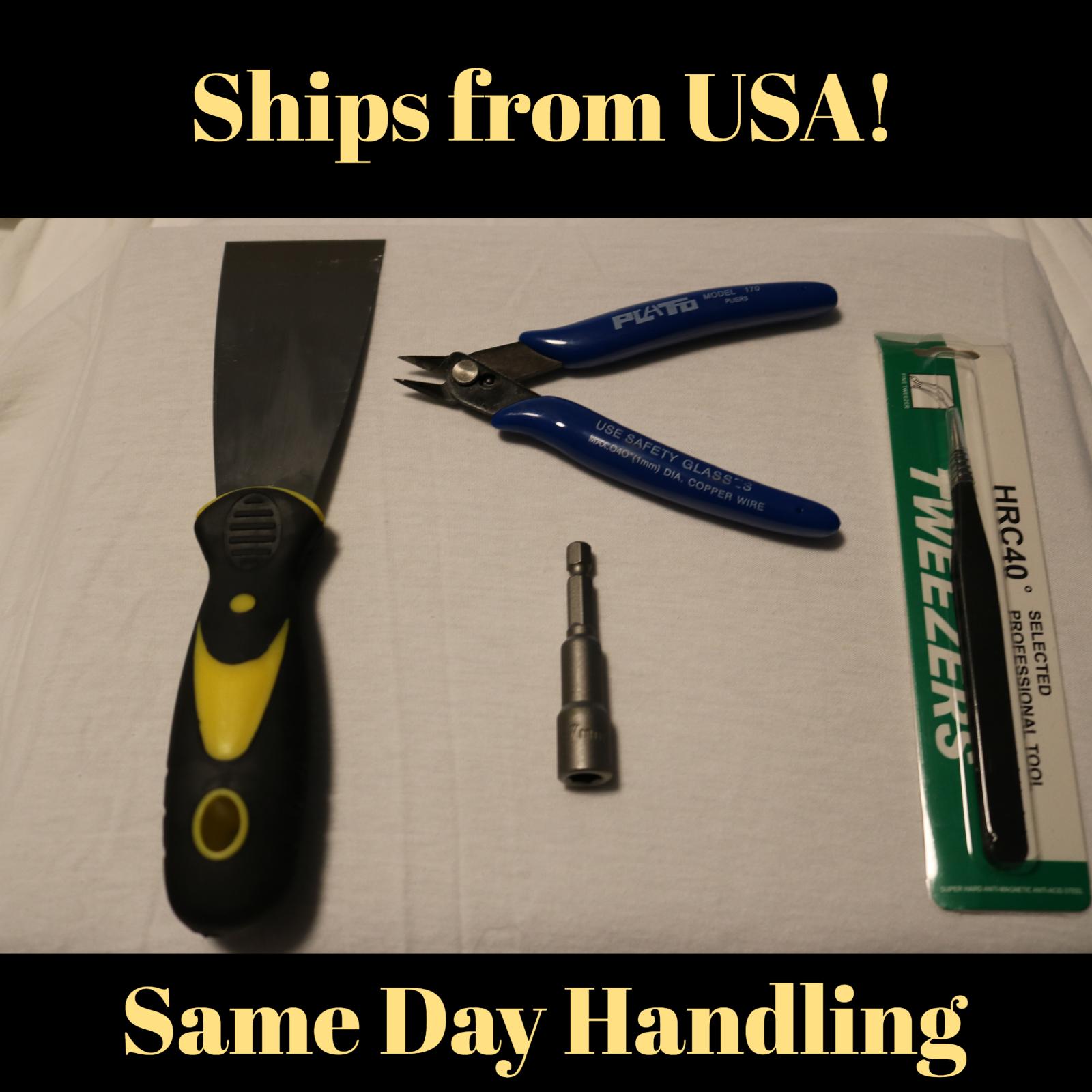 3D Printer High Quality Tools. Scraper/Tweezers/Filament Cutter/7mm Socket
