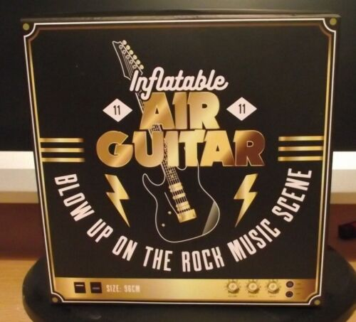 """96cm  New /& Sealed Inflatable Air Guitar Black and Gold  38/"""""""