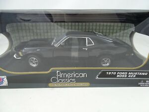 1-18-Motormax-1970-Ford-Mustang-Boss-429-Negro-Rareza-Nuevo-Ovp