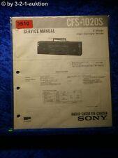 Sony Service Manual CFS 1020S Cassette Corder (#3510)