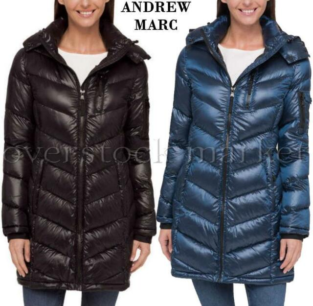 NEW WOMENS MARC NEW YORK ANDREW MARC QUILTED HOODED PARKA LONG COAT VARIETY $210
