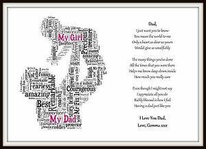 personalised daughter dad poem fathers day birthday christmas gift