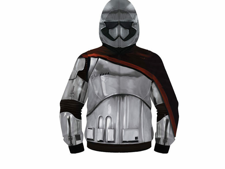 Star Wars Episode VII Phasma Zip Up Costume Hoodie Sweatshirt