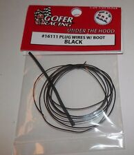 Gofer Racing 1:24/25 Plug Wires with Boot BLACK #16111 NIP