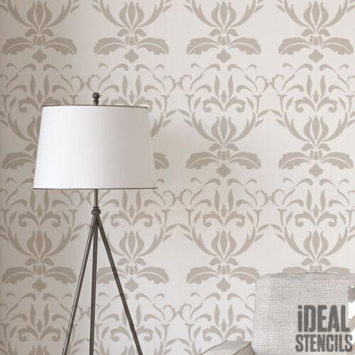 Damast Schablone malen Wände Stoff Möbel Wohndeko französischer Stil Muster
