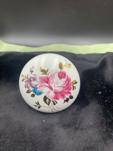 "Porcelain Ceramic Rose Flower Retro door knob 2.5"" Round"