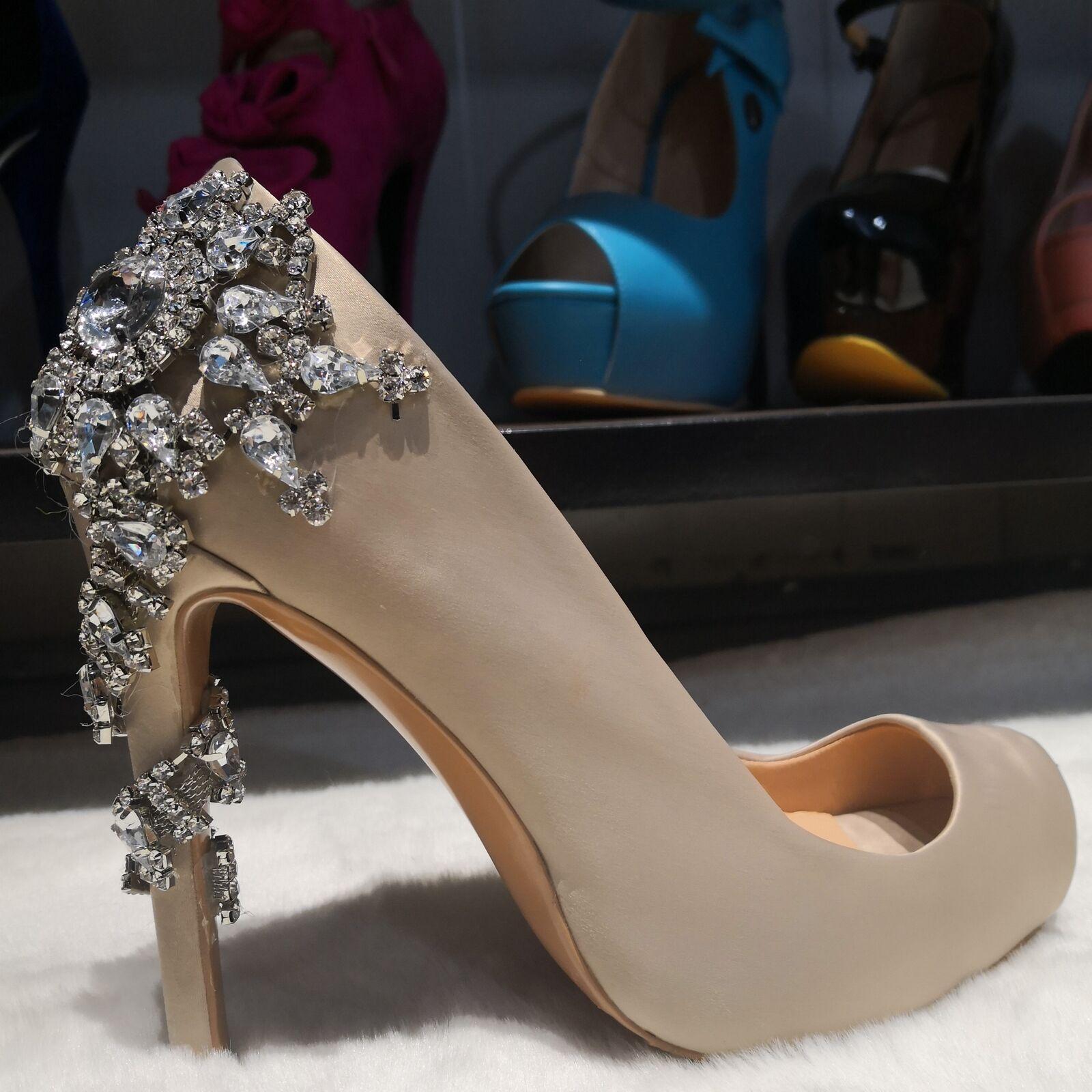 Slip on Pumps Heels Us 4-12 high Heels OL Summer scarpe donna New Hot Glitters