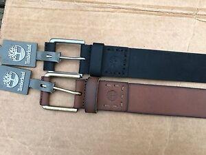 c19d38b4a7d Image is loading Mens-Timberland-Vintage-GENUINE-Leather-Belt-B75392-0100-