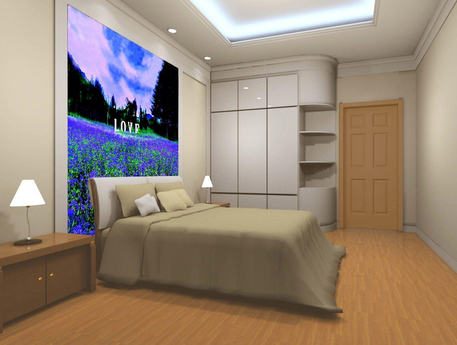 3D Lavender 4031 Wallpaper Murals Wall Print Wall Mural AJ WALLPAPER UK Lemon