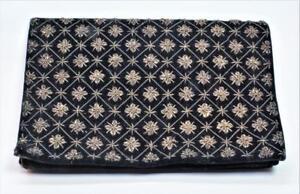 50s Ivory Floral Brocade Clutch Purse Vintage Satin Brocade Handbag Purse Hidden Top Handle 60s Mid Century Mad Men Fashion Evening Bag Gift