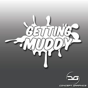 Getting muddy 4x4 off road rally novelty awd jeep car for Getting stickers off glass