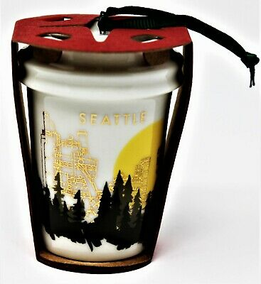 Starbucks Ornament 2015 Christmas Holiday To Go Cup Seattle NEW with Tag