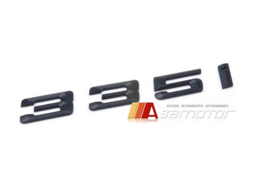 Matt Black Letter Trunk Boot Emblem Badge Letters 335i 335 for BMW E90 E92 F30