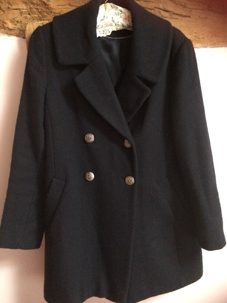 Marks & Spencer Women's Short Double Breasted Wool Coat Size 12