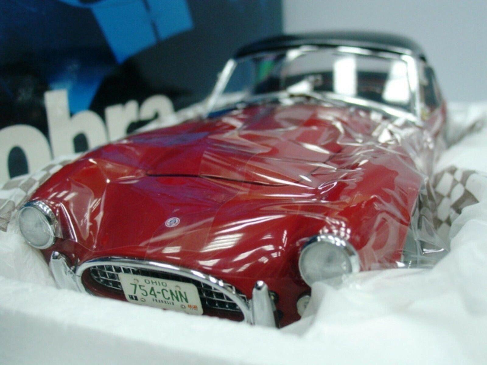 WOW estremamente raro AC Shelby Cobra 289 V8 HARD TOP 1963 Rosso Nero 1 18 Exoto-260