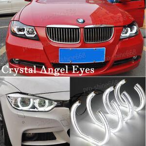 Image Is Loading 6000K White Crystal DTM Style LED Angel Eyes