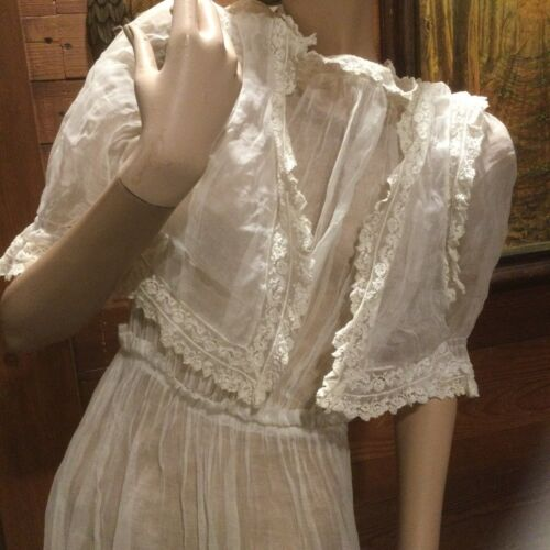 vintage Cotton edwardian dress Underdress Or Slip