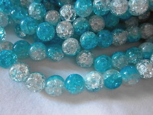 20-Round-Crackle-Glass-Beads-12mm-Blue-Crystal-cr628