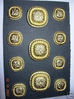 DESIGNER SUIT Coat blazer  BUTTON SET Surplus Sew Trims  ZT6  24//36 Taupe 11p