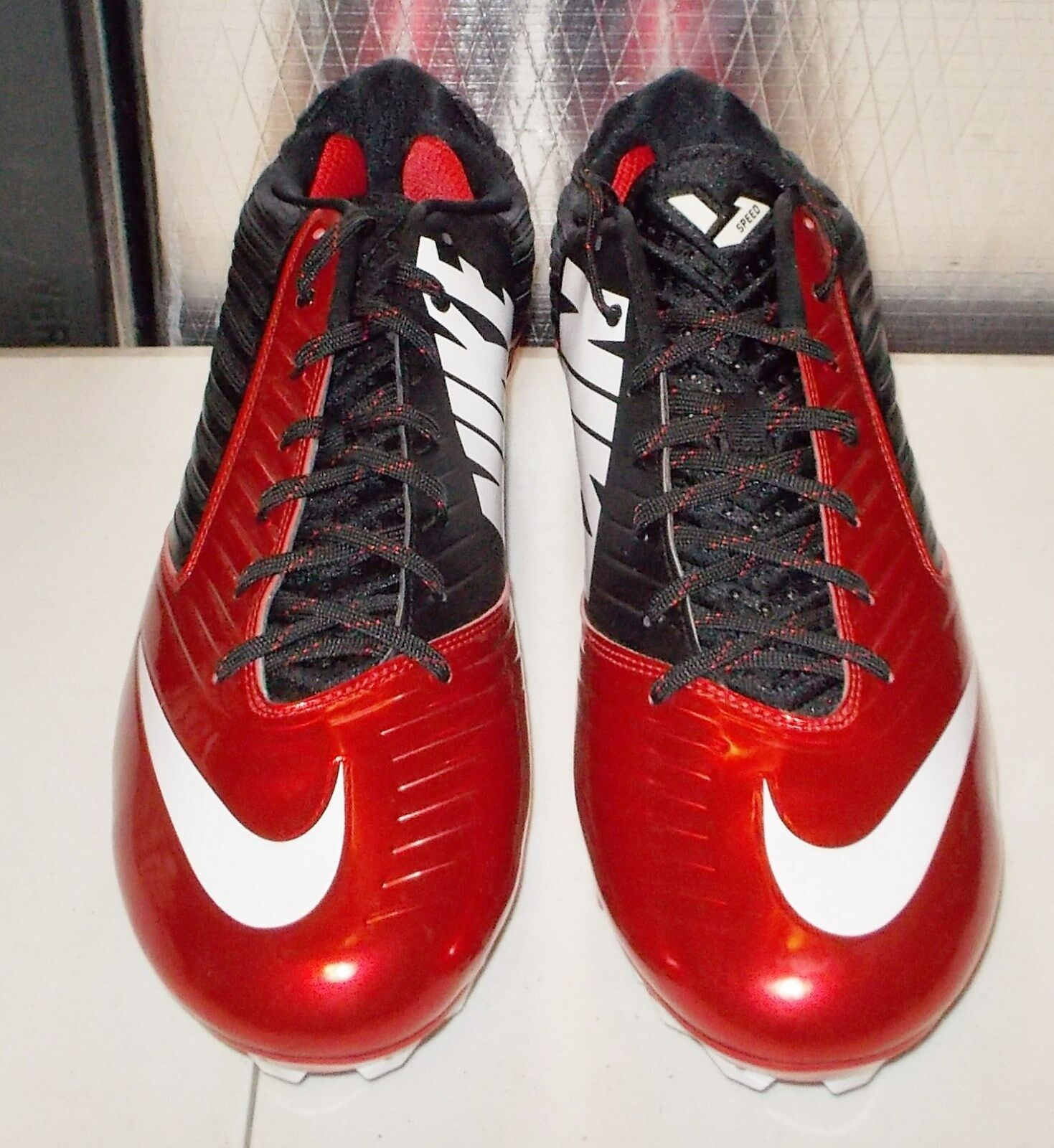 e771f7bfc ... sweden nike vapor speed low td football cleats mens game 15 game mens  red black 643152