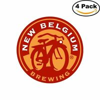 Fat Tire Belgium Beer Alcohol Decal Diecut Sticker 4 Stickers