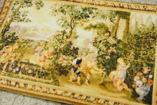 Leisure Afternoon Cherubs Playing Happily Miniature Tapestry