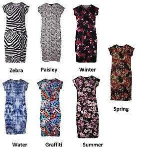 MISO-Womens-Ladies-Jersey-Summer-Wedding-Evening-Party-Midi-Bodycon-Dress