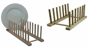 2-x-Wooden-Dish-Drainer-Storage-Rack-Drying-Draining-Dinner-Plates-Stand-Holder