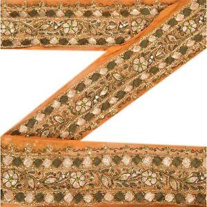 Sanskriti Vintage Sari Border Antique Hand Beaded 1 YD Indian Trim Sewing