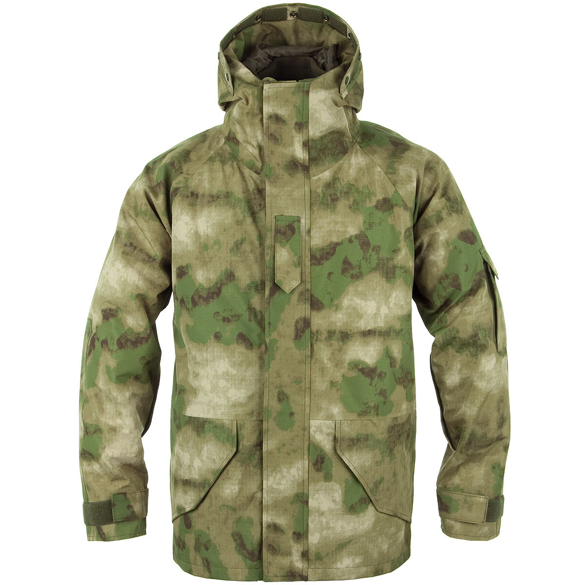 US Cold Wet Weather Umidità Protezione Parka A GIACCA IN PILE VERDE OLIVA MIL TACS FG Medium M
