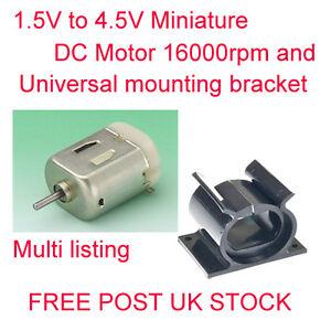 1-5v-To-4-5v-Miniatura-Motorino-Dc-e-Staffa-di-Montaggio