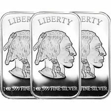 American Buffalo Bar by SilverTowne 1oz .999 Silver Bar (3pc)
