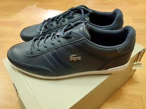 Lacoste-Giron-119-1-U-CMA-Sneakers-Men-039-s-Leather-Shoes-8-5-Navy-White-New