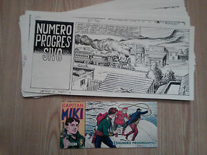 ITALIAN-WESTERN-FUMETTI-Capitan-Miki-ORIGINAL-STRIP-ART-COMPLETE-ISSUE-32-pages