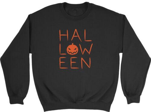 Spooky Halloween Orange Kids Boys Girls Childrens Jumper Sweatshirt