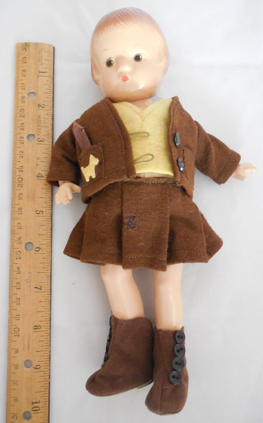 Jahr Effanbee Patsyette Doll Tagged Glad Togs 5Pc Outfit Scotty Hunds Applique